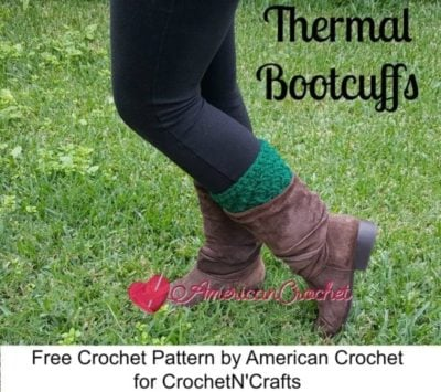 Thermal Boot Cuffs by American Crochet for CrochetN'Crafts