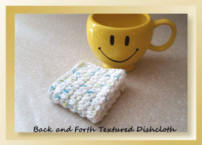 Back and Forth Textured Dishcloth by Crochet Memories