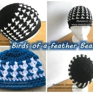 Birds of a Feather Beanie by Meladora's Creations