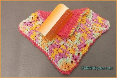 Dual Sided Washcloth by YARNutopia by Nadia Fuad