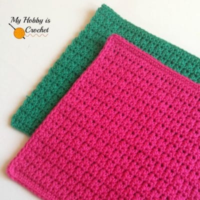 Easy Crochet Dishcloth by My Hobby is Crochet.