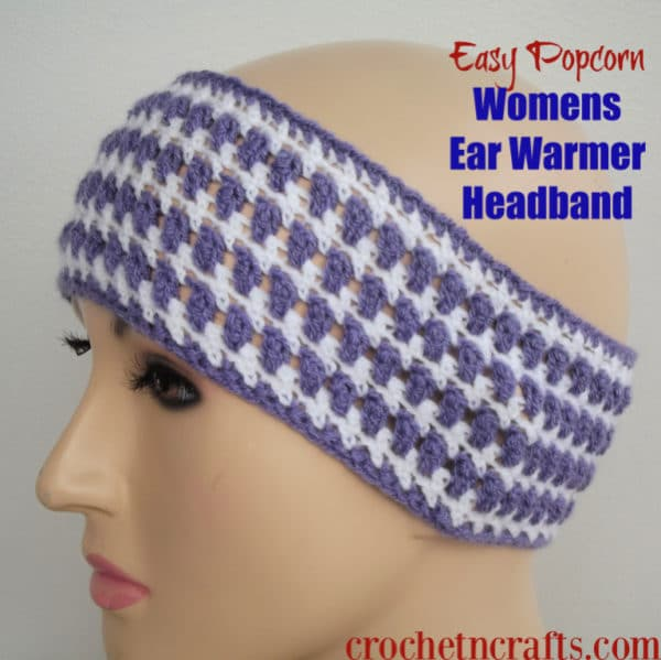 Easy Popcorn Womens Ear Warmer Headband