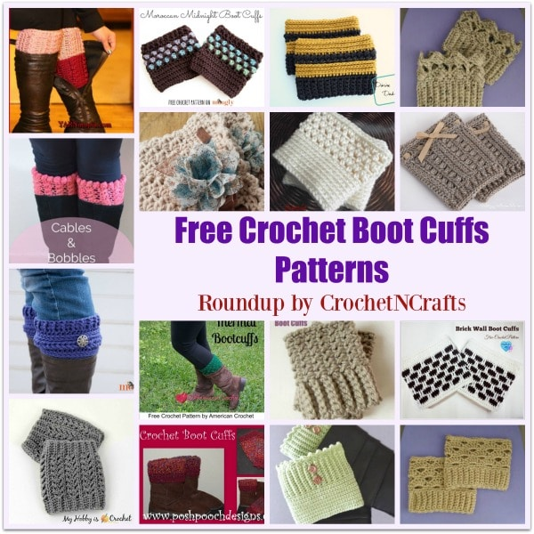 Free Crochet Boot Cuffs Patterns Roundup Compiled by CrochetNCrafts