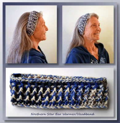 Northern Star Ear Warmers by Crochet Memories