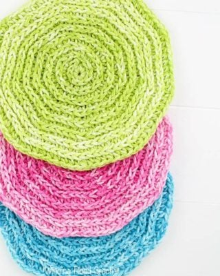 Seeing Spirals Washcloth by Winding Road Crochet