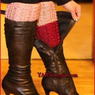 Two-Toned Cable Boots by YARNutopia by Nadia Fuad