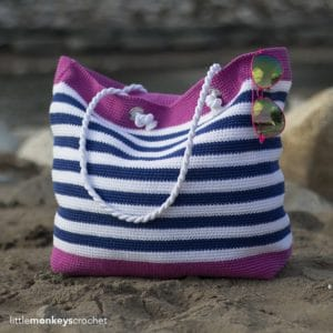 Classic Beach Bag (Adult and Child Sizes) by Yarn & Chai
