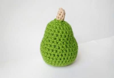 Crochet Pear by EllieKayCrochet