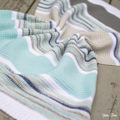 Summer Boardwalk Baby Blanket by Yarn & Chai