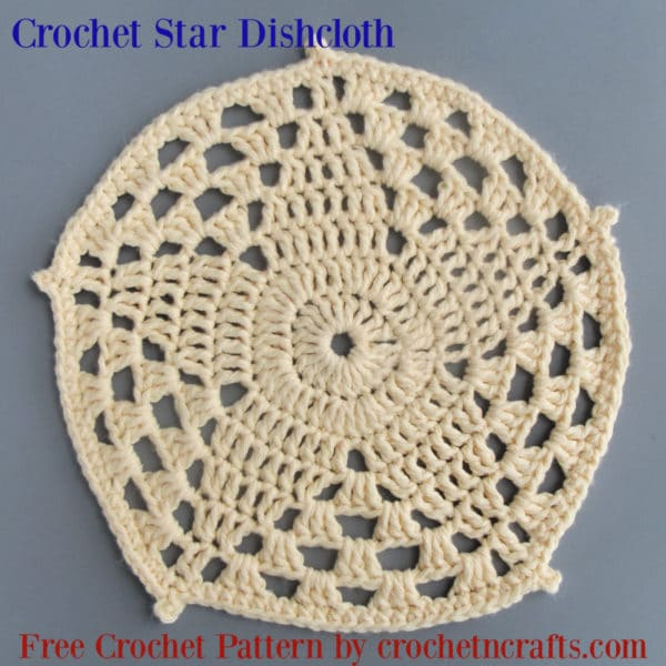Crochet Star Dishcloth ~ Free Crochet Pattern