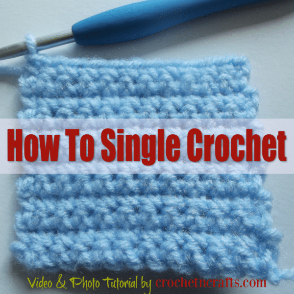 A swatch made with single crochet stitches.
