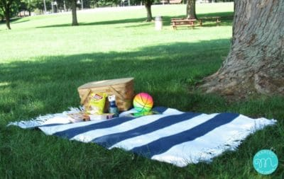 Outdoor Picnic Blanket by Maria's Blue Crayon