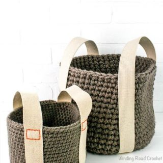 Sturdy Bottom Baskets by Winding Road Crochet