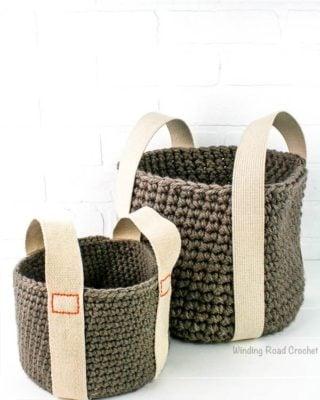 Sturdy Bottom Baskets by Winding Road Crochet