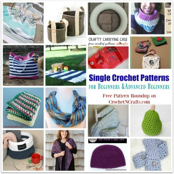 Easy Single Crochet Patterns for Beginners and Advanced Beginners ~ FREE Pattern Roundup