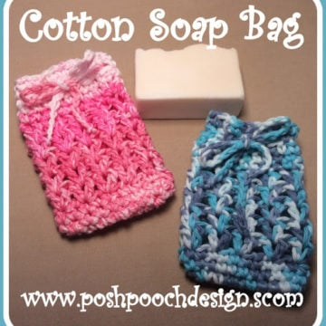 Cotton Soap Bag by Posh Pooch Designs