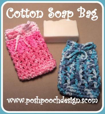 Cotton Soap Bag by Posh Pooch Designs