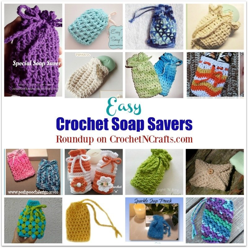 Easy Crochet Soap Savers ~ FREE Crochet Pattern Roundup.