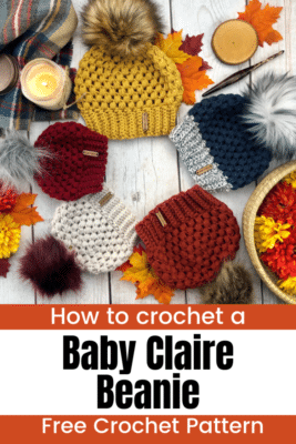 Baby Claire Beanie by A Crafty Concept
