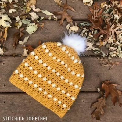 Puff Stitch Crochet Hat by Stitching Together