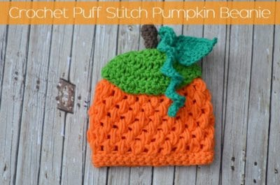 Puff Stitch Pumpkin Beanie by The Stitchin' Mommy