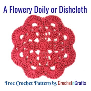 A Flowery Doily or Dishcloth Pattern