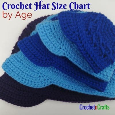 Crochet Brim Hats Shown in Multiple Sizes