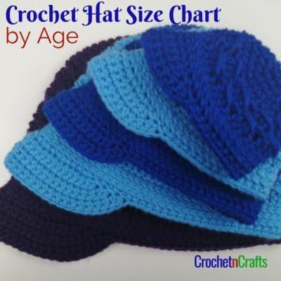 Crochet Brim Hats Shown in Multiple Sizes