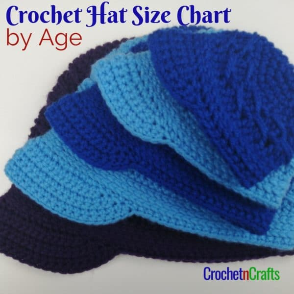 Crochet Hats Shown in Multiple Sizes