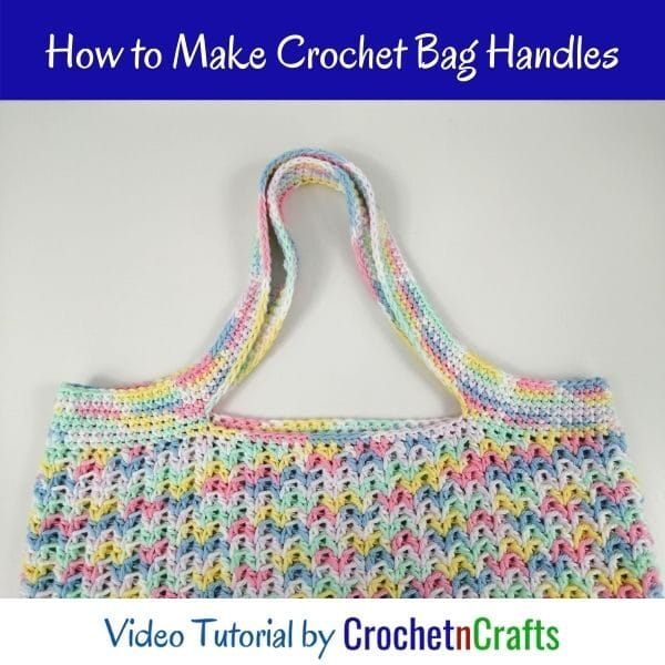 Crochet Bag Handles Worked Up In Single Crochet Stitches.